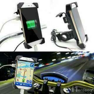 Motor Phone Holder with USB charger