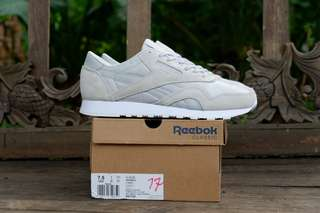 Reebok original CL NYLON skull grey/white murah