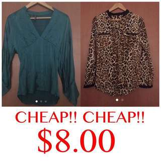 CHEAP!! Ladies Tops Bundle! $8 ONLY