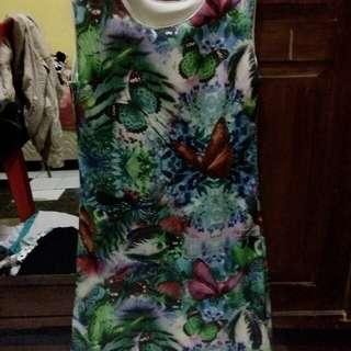 Dress printed lucu
