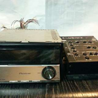 Pioneer player and electronic crossover