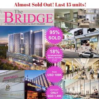 The Bridge Shopping Mall/ Retails – One of the Largest Shopping mall with ~1,000 retail stores! Nett GRR 70% over 10-Yrs.