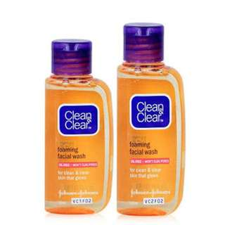 Clean&Clear Foaming Facial Wash (2 botol)