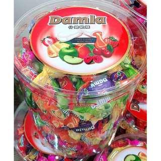 爆賣中 黛瑪菈土耳其水果軟糖  (強推新包裝)1000公克/桶
