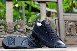 Converse original ct ox as canvas monoblack murah