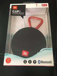 JBL Clip2 Portable Bluetooth Speaker (Black)