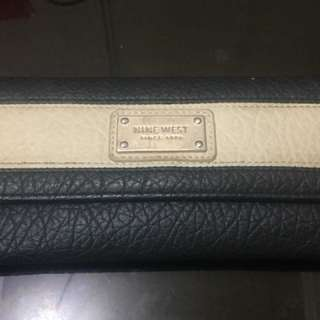 Nine West B&W Long Wallet
