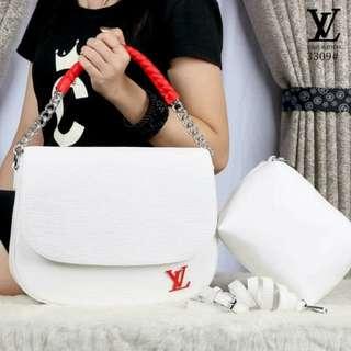 💓💋🎀 New Louis Vuitton Epi Leather Luna Bag Coquelicot like Ori # 3309E  Size 30x24x9cm anak Tas 19x18x7cm  Berat 1,1kg Warna Black Brown Red Blue Cream Grey White  Kwalitas Semipremium  Recomended!!!!! 👍🏻