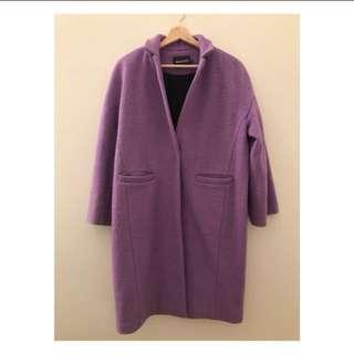 Purple Oversize Outwear