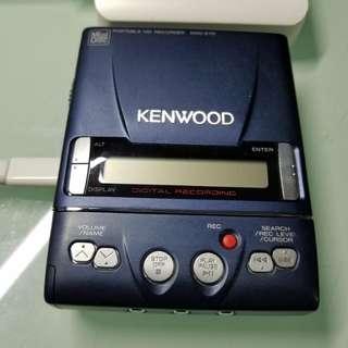 kenwood dmc-e7r md機,功能正常 機身有花痕 電池已瓜,只能使用尿袋,送md一隻,尿袋一個 沒有耳筒 老香港懷舊物品古董珍藏