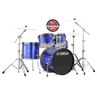 JUAL ***BILLY MUSIK*** Drum Set Yamaha Rydeen 5 Piece Royal Blue