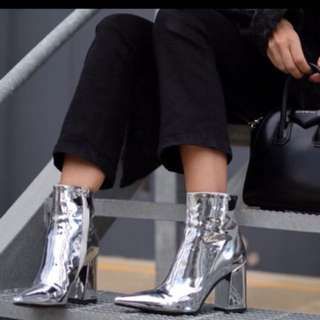 Silver boots!