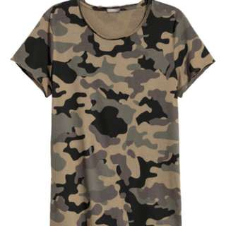 H&M Camouflage and Tropical Floral T-Shirt