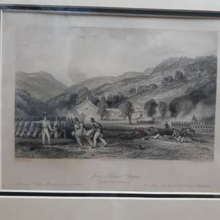 十九世紀英國銅版畫乍浦之戰英軍攻打天尊廟,只售港幣$800