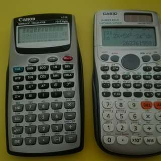 2 Scientific Calculator Casio and Canon All in!