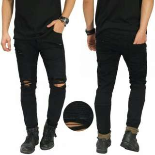 Celana jeans ripps pull and bear