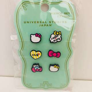 Universal studios Japan hello kitty earrings set