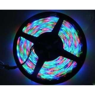 彩色LED燈帶LED燈條300粒5050遙控5米長16種顏色可調光暗免焊接百變套餐