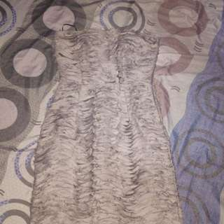 Gray formal tube dress