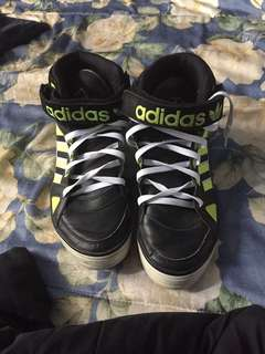 Green black and white adidas