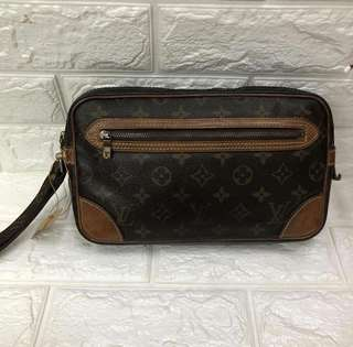 Preloved Louis Vuitton Clutch with handstrap PM Authentic