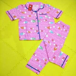 #MakinTebel Piyama Katun Anak Balita Perempuan Pink Fish