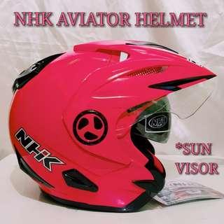 NHK AVIATOR CREAM PINK HELMET..🤗!!