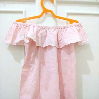 #MakinTebel Sabrina Anak Balita Perempuan Pink Polkadot
