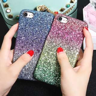 iPhone Grafient Glitter Cases Pink or Purple Gradient
