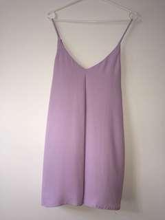 lilac shift dress