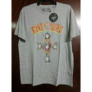 Original Guns N' Roses Cross Logo Gray Tshirt