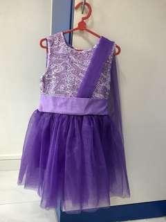 Purple Dress with tutu