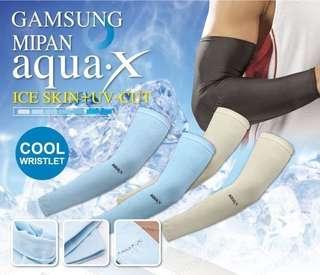 3月優惠包郵售完即止㊣Gamsung Aqua X抗UV防紫外線防曬透氣舒適冰絲冰涼手袖 7色$30/對減至$50/2對