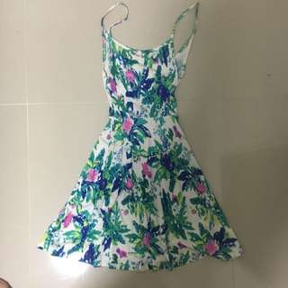 H&M Floral Divided Dress in XS