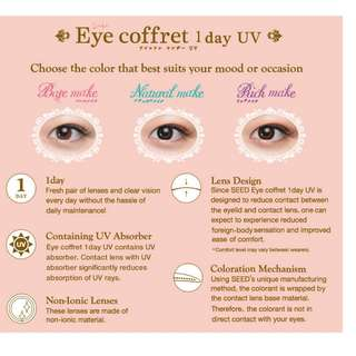 SEED Eye Coffret 1day UV Lenses Contact Color