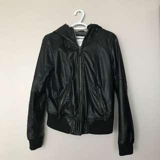 Garage double layer leather jacket