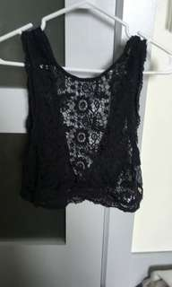 Hollister crochet top