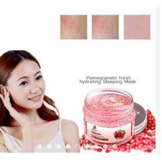 Red Pomegranate Sleeping Mask Face Care Whitening Wrinkle Aging Skin Care