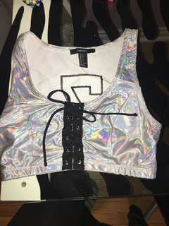 Forever 21 rave crop top