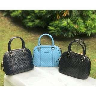 CHOICES!! Gucci Micro Guccissima Small Dome Leather