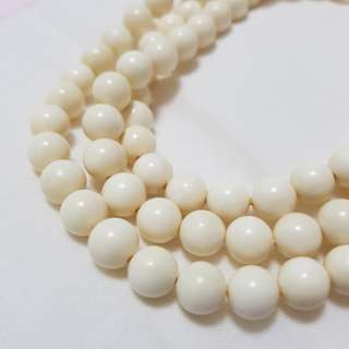 (Certified) 6mm 8mm 10mm 108 Ivory Beads