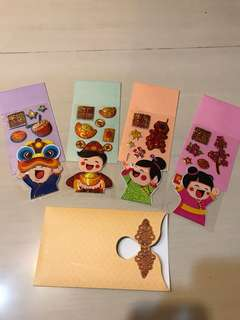 LAYs DIY stickers Hong Bao Red Packets