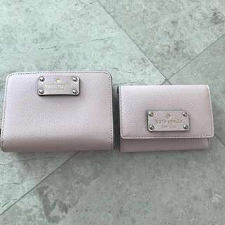Light pink kate spade wallet and card holder
