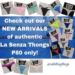 🎀 Authentic La Senza Thongs - New Arrivals - 80pesos each!