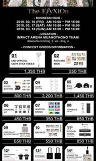(LOOKING FOR) EXO ElyXiOn in Bangkok Official Concert Goods