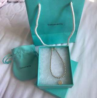 TIFFANY AND CO mini heart tag bead bracelet RRP $250