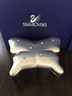 SWAROVSKI 蝴蝶型水晶金屬首飾盒
