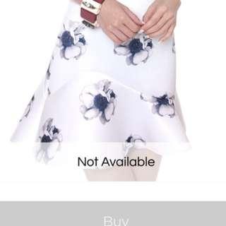 MDS blossomy neoprene skirt