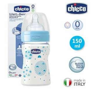 150ml Chicco Feeding Bottle - BLUE