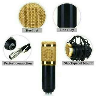 Mikrofon Kondenser dengan Shock Proof Mount - BM-800 - Black